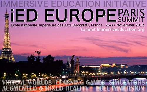 Immersive Education : iED Europe 2012 Paris